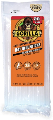 Gorilla Glue Hot Glue sticks large (203 mm*10,9 mm)